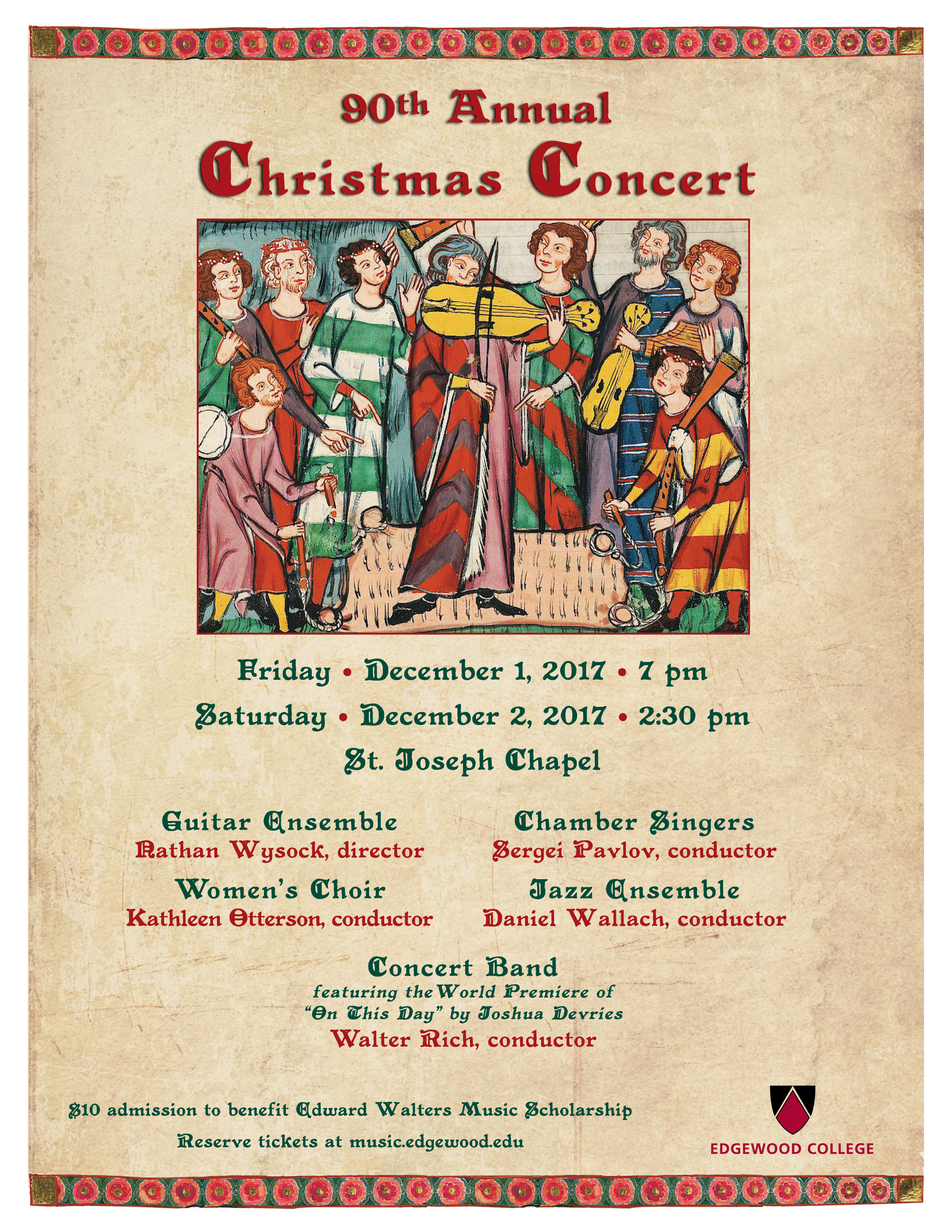 90th Annual Christmas Concert Poster