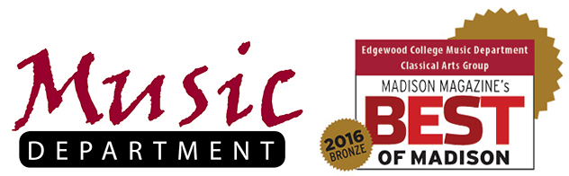 Edgewood College Music Department and Best of Madison Logo