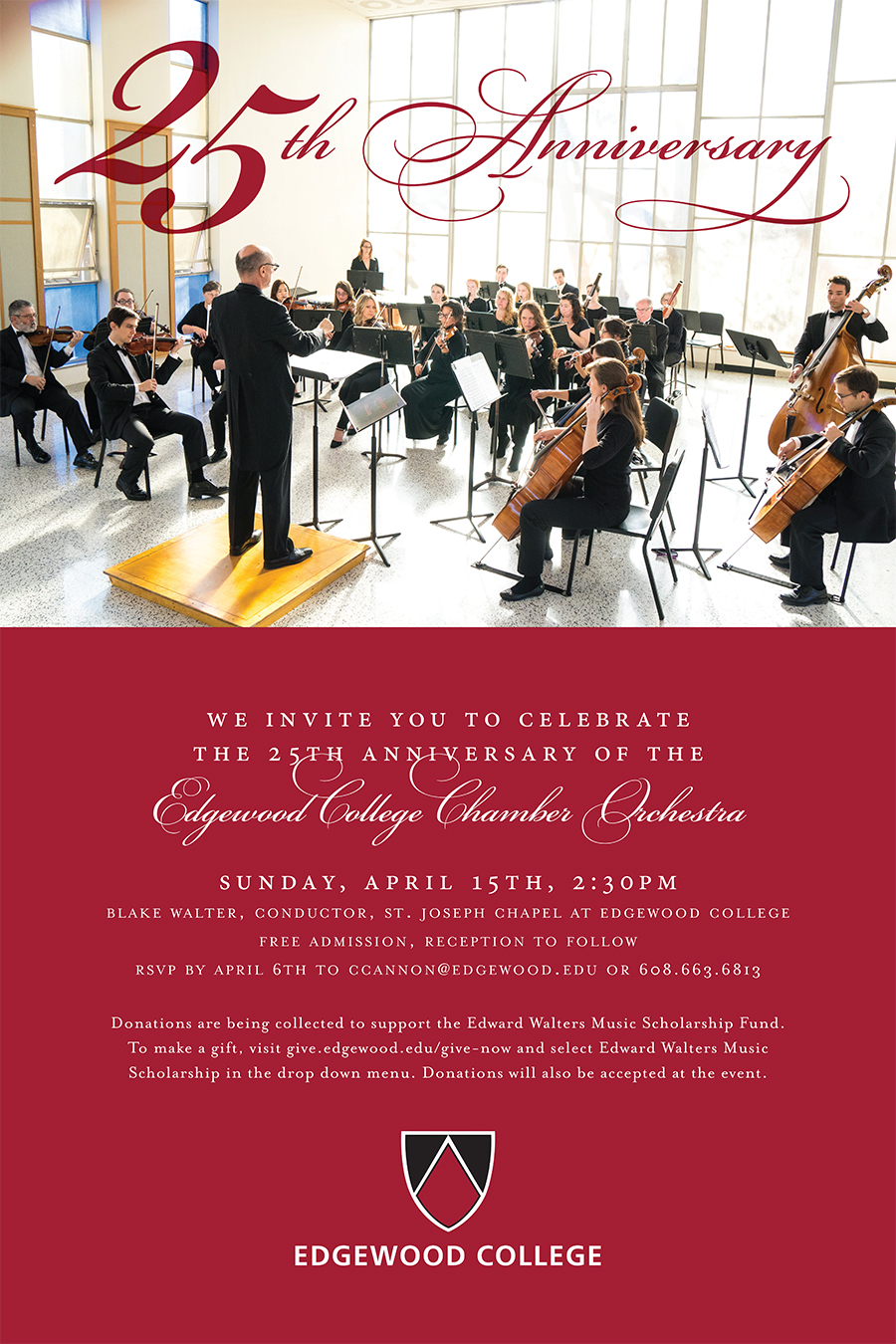 25th Anniversary Concert of Edgewood Chamber Orchestra Poster